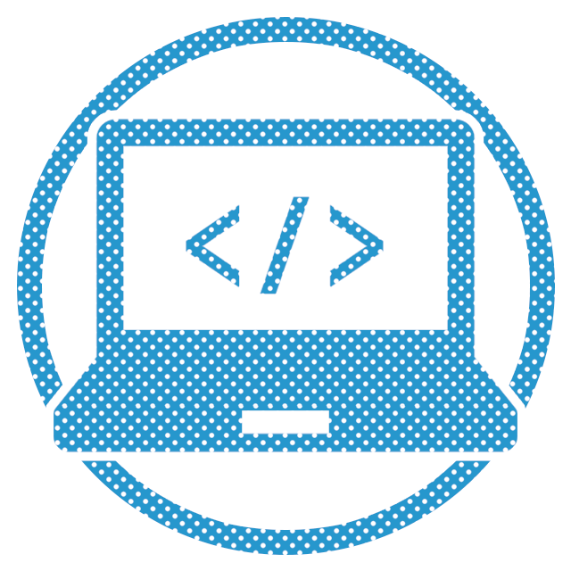 新規WEBサイトの制作の水色のイメージアイコン