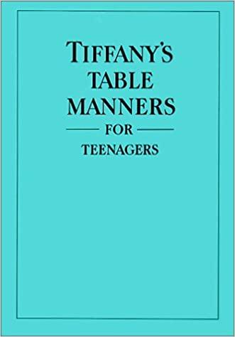 書籍Tiffany's Table Manners for Teenagers(Walter Hoving (著), Joe Eula (イラスト), John Hoving (序論)/Random House Books)」の表紙画像
